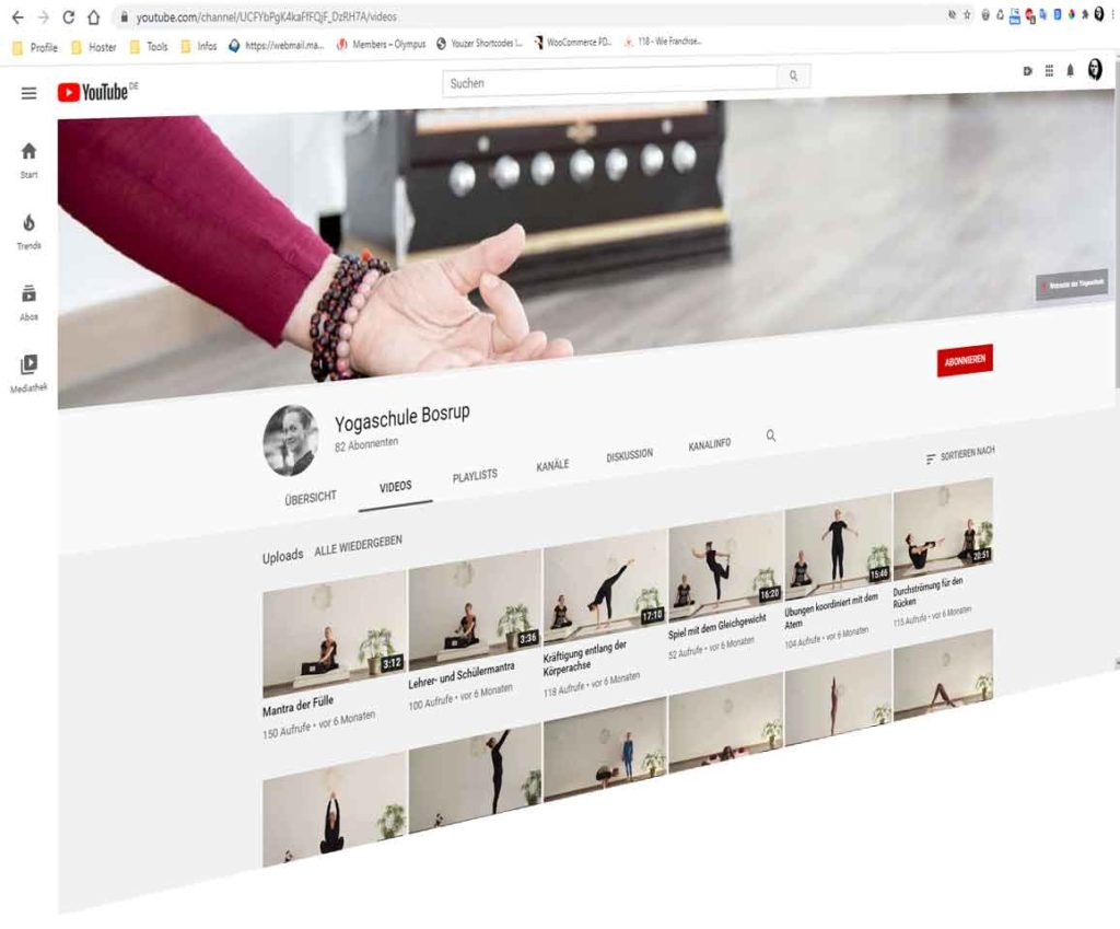 Yogaschule Bosrup auf YouTube